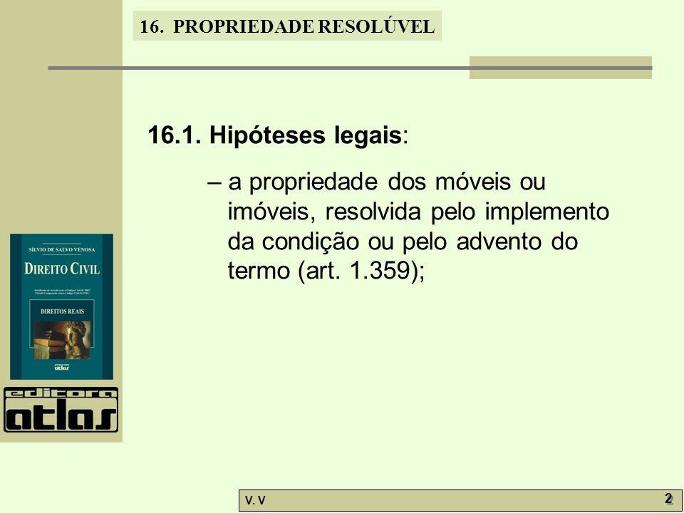 16.PROPRIEDADE RESOLÚVEL V. V 2 2 16.1.