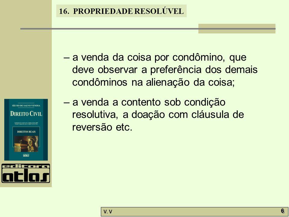 16.PROPRIEDADE RESOLÚVEL V.