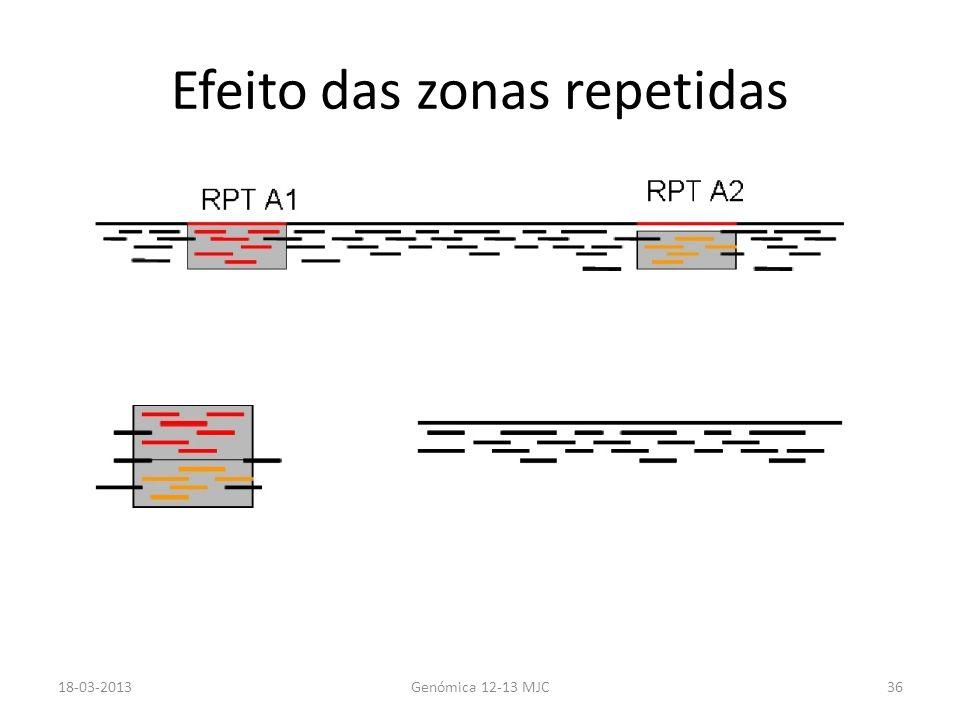 Efeito das zonas repetidas 18-03-2013Genómica 12-13 MJC36