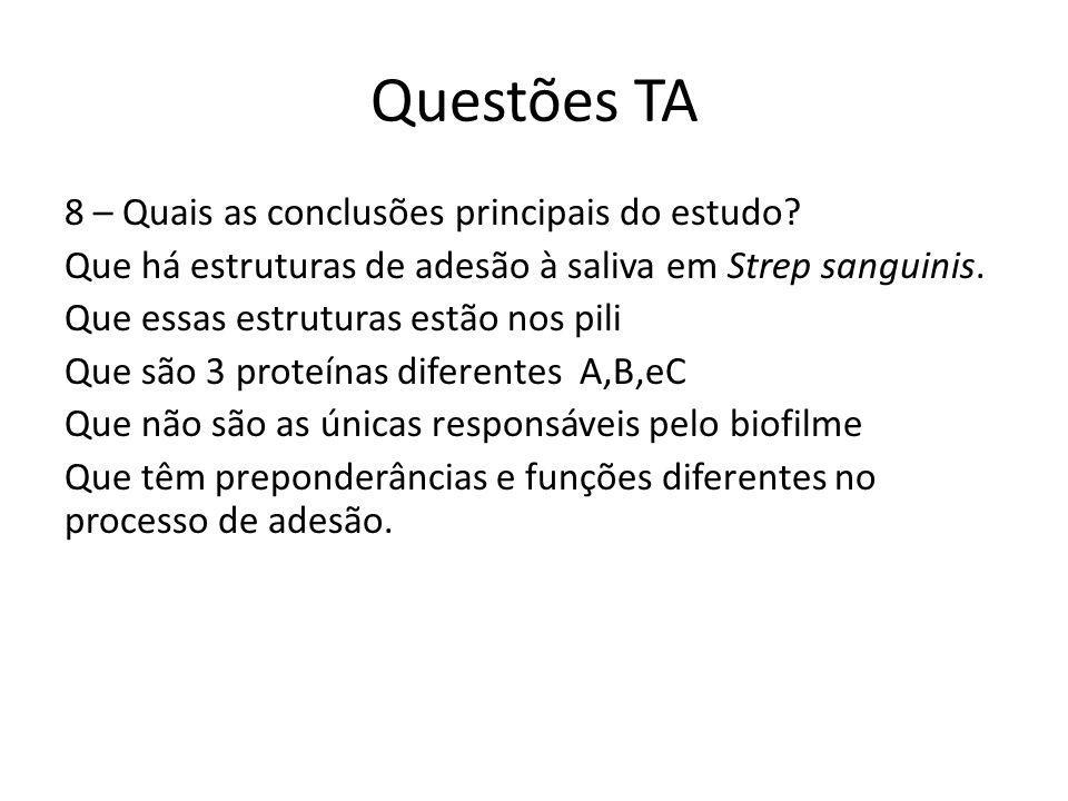 Questões TA 8 – Quais as conclusões principais do estudo.