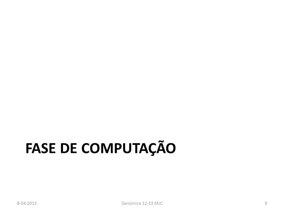 FASE DE COMPUTAÇÃO 8-04-2013Genómica 12-13 MJC9