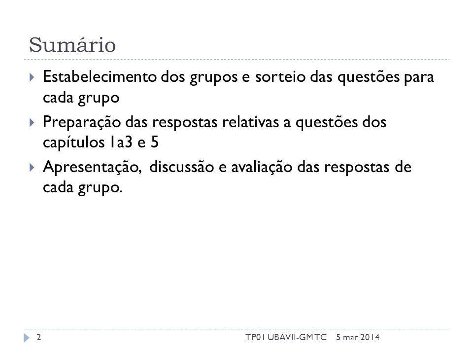 Capítulo 1 Como se isola o DNA para fazer estudos genéticos? 5 mar 20143TP01 UBAVII-GM TC