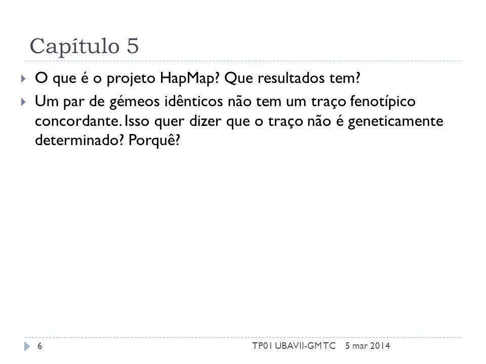 Capítulo 5 O que é o projeto HapMap. Que resultados tem.