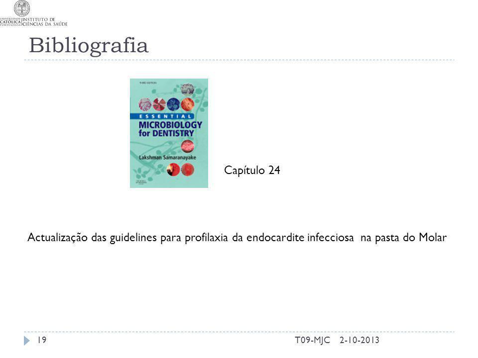 Bibliografia T09-MJC192-10-2013 Capítulo 24 Actualização das guidelines para profilaxia da endocardite infecciosa na pasta do Molar