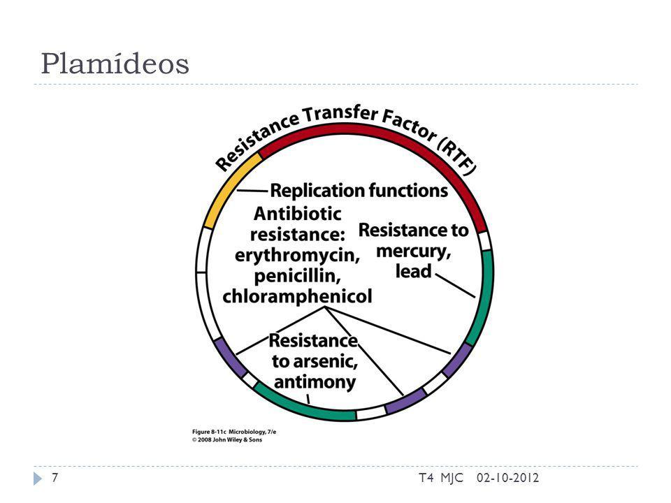 Conjugação sem pilus 02-10-2012T4 MJC18 Conjugação em Enterococcus fecalis: cA=feromonas produzidas por células recetoras; AS (Proteina de aderente); BS (receptor de AS); IcA (repressor de cA).