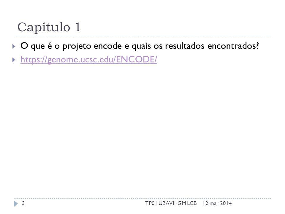 Capítulo 1 O que é o projeto encode e quais os resultados encontrados.