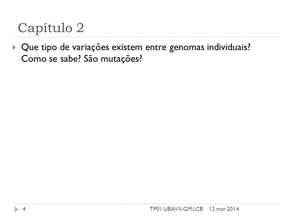 Capítulo 2 Que tipo de variações existem entre genomas individuais.