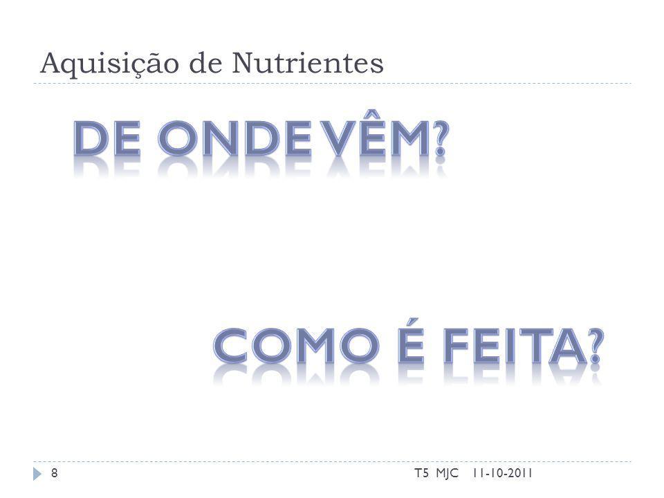 Aquisição de Nutrientes 11-10-2011T5 MJC8