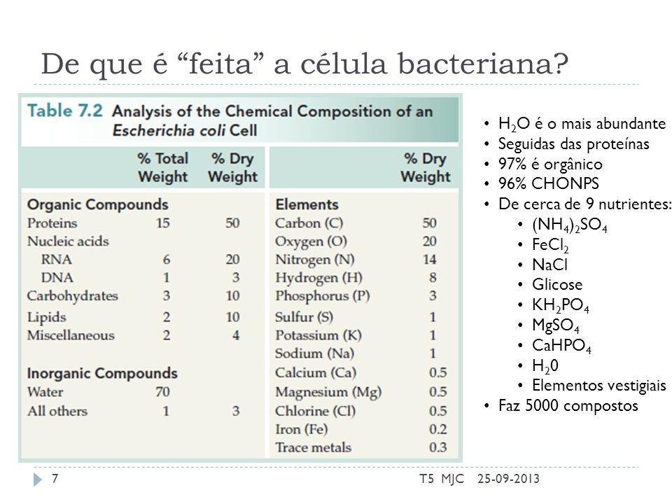 De que é feita a célula bacteriana.