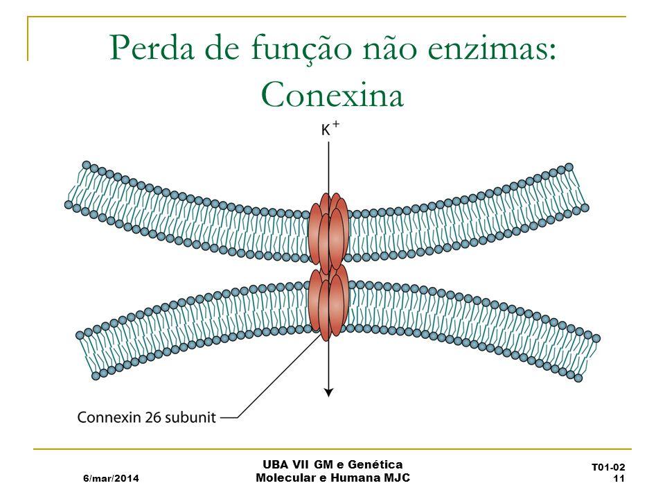 Perda de função não enzimas: Conexina 6/mar/2014 UBA VII GM e Genética Molecular e Humana MJC T01-02 11