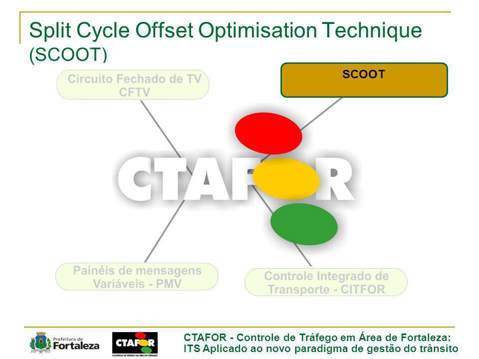 CTAFOR - Controle de Tráfego em Área de Fortaleza: ITS Aplicado ao novo paradigma de gestão do trânsito Split Cycle Offset Optimisation Technique (SCOOT) SCOOT