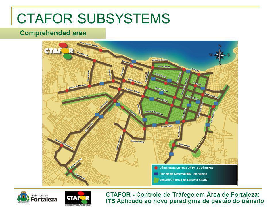CTAFOR - Controle de Tráfego em Área de Fortaleza: ITS Aplicado ao novo paradigma de gestão do trânsito CTAFOR SUBSYSTEMS Comprehended area