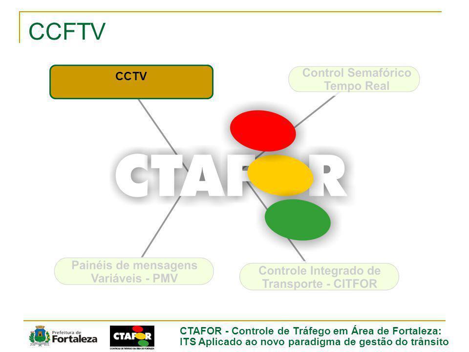 ITS Aplicado ao novo paradigma de gestão do trânsito CCTV 30 cameras monitoring strategic areas 20 -29 color monitors 1 - 64 color monitor Recoding and Reproduction System Remote Camera Control System