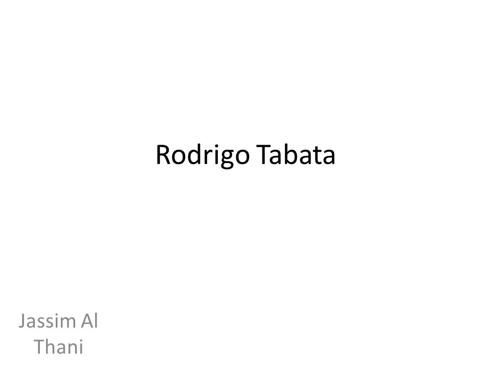When was Tabata born Rodrigo Barbossa Tabata or simply Rodrigo Tabata (born November 19, 1980 in Araçatuba, Brazil), has a Japanese-Brazilian background.