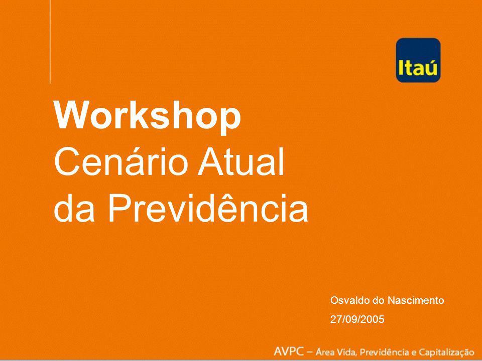 Osvaldo do Nascimento 27.09.05 Workshop Cenário Atual da Previdência Osvaldo do Nascimento 27/09/2005