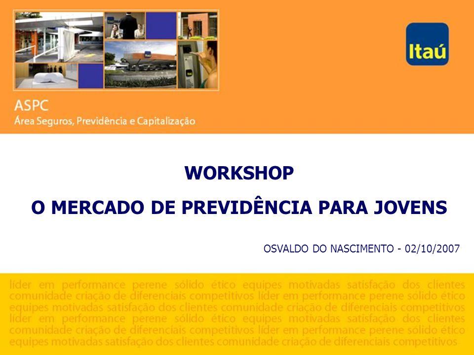 WORKSHOP O MERCADO DE PREVIDÊNCIA PARA JOVENS OSVALDO DO NASCIMENTO - 02/10/2007