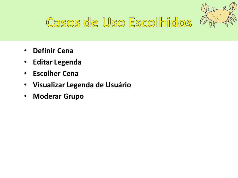 Definir Cena Editar Legenda Escolher Cena Visualizar Legenda de Usuário Moderar Grupo