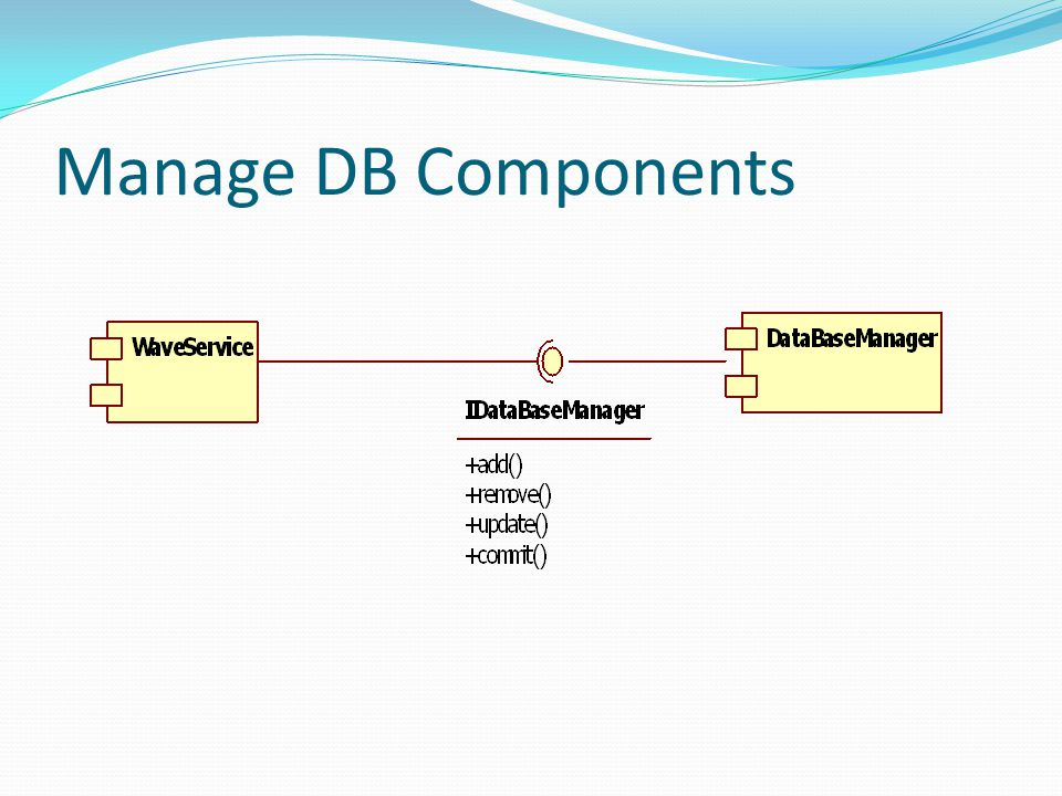 Manage DB Components