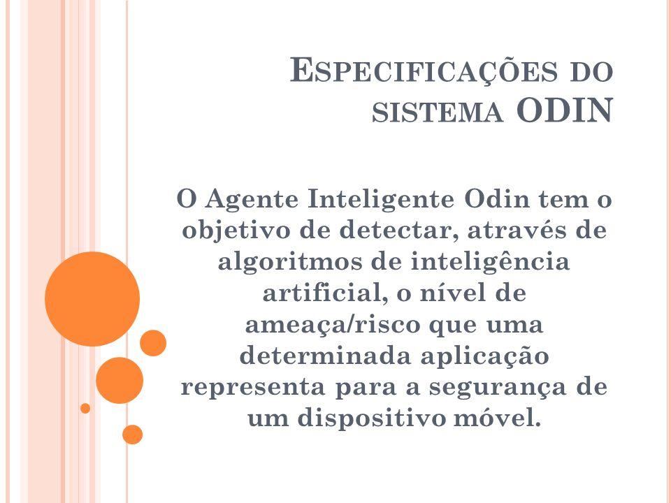 O Agente Inteligente Odin tem o objetivo de detectar, através de algoritmos de inteligência artificial, o nível de ameaça/risco que uma determinada ap