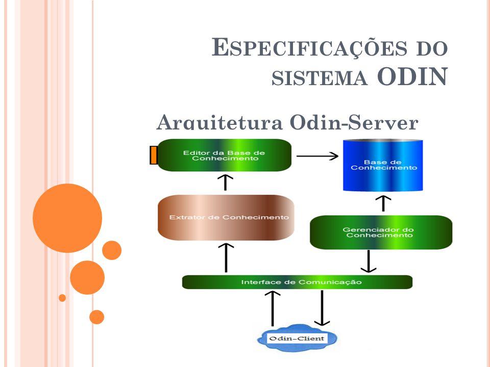 E SPECIFICAÇÕES DO SISTEMA ODIN Arquitetura Odin-Server