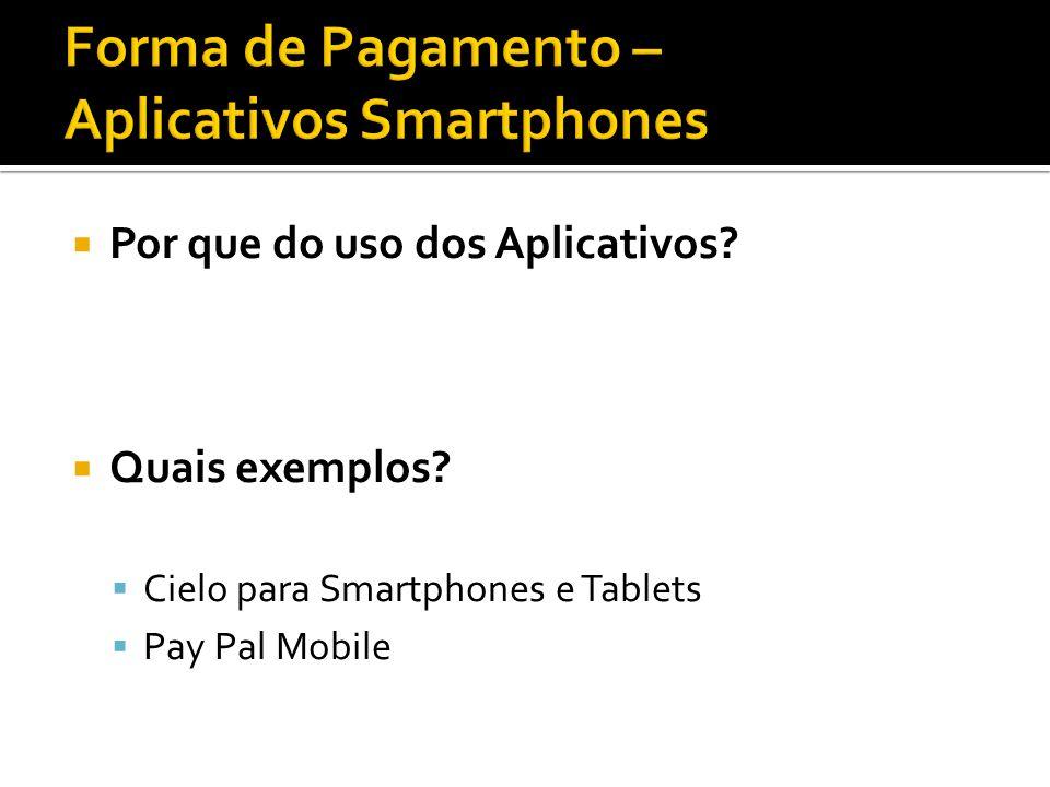 Por que do uso dos Aplicativos Quais exemplos Cielo para Smartphones e Tablets Pay Pal Mobile
