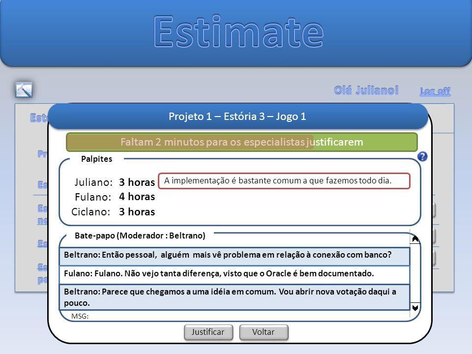 Alterar Senha Detalhar Projeto 1 Projeto 1 – Estória 3 – Jogo 1 A implementação é bastante comum a que fazemos todo dia.