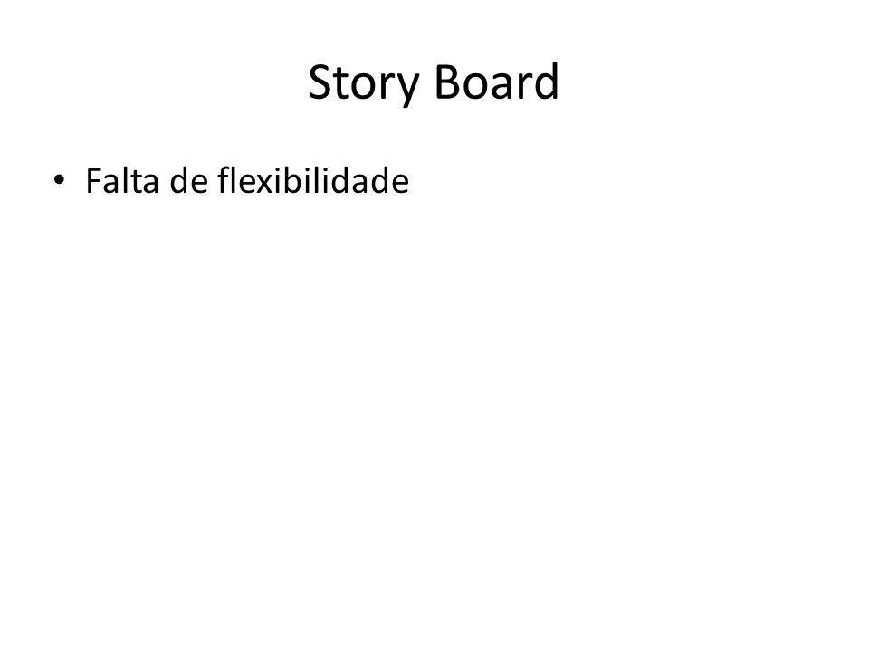 Story Board Falta de flexibilidade