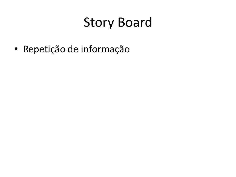 Story Board Repetição de informação