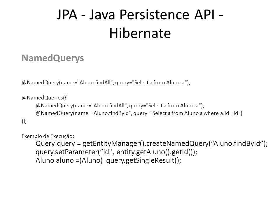 JPA - Java Persistence API - Hibernate NamedQuerys @NamedQuery(name=