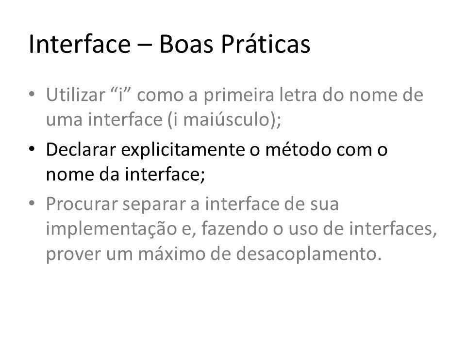 Interface - Implementação