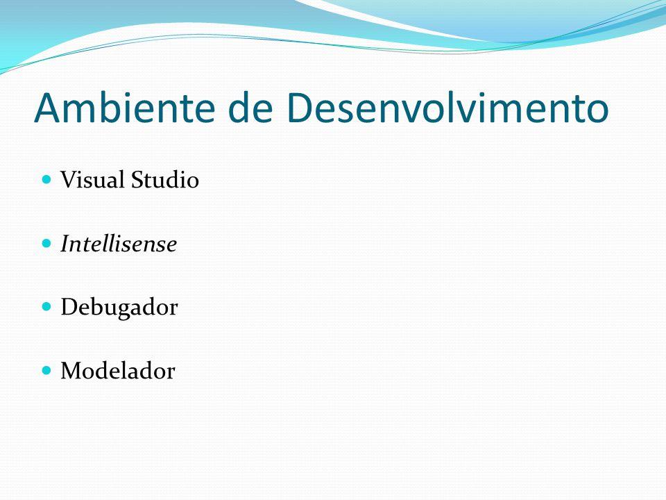 Ambiente de Desenvolvimento Visual Studio Intellisense Debugador Modelador