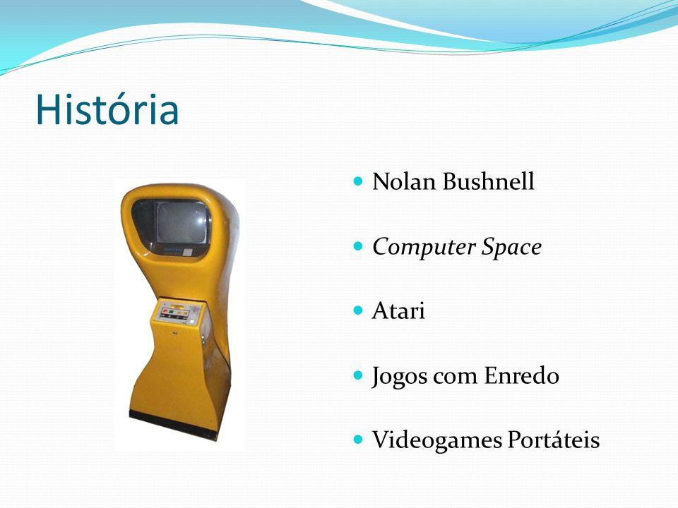 História Nolan Bushnell Computer Space Atari Jogos com Enredo Videogames Portáteis