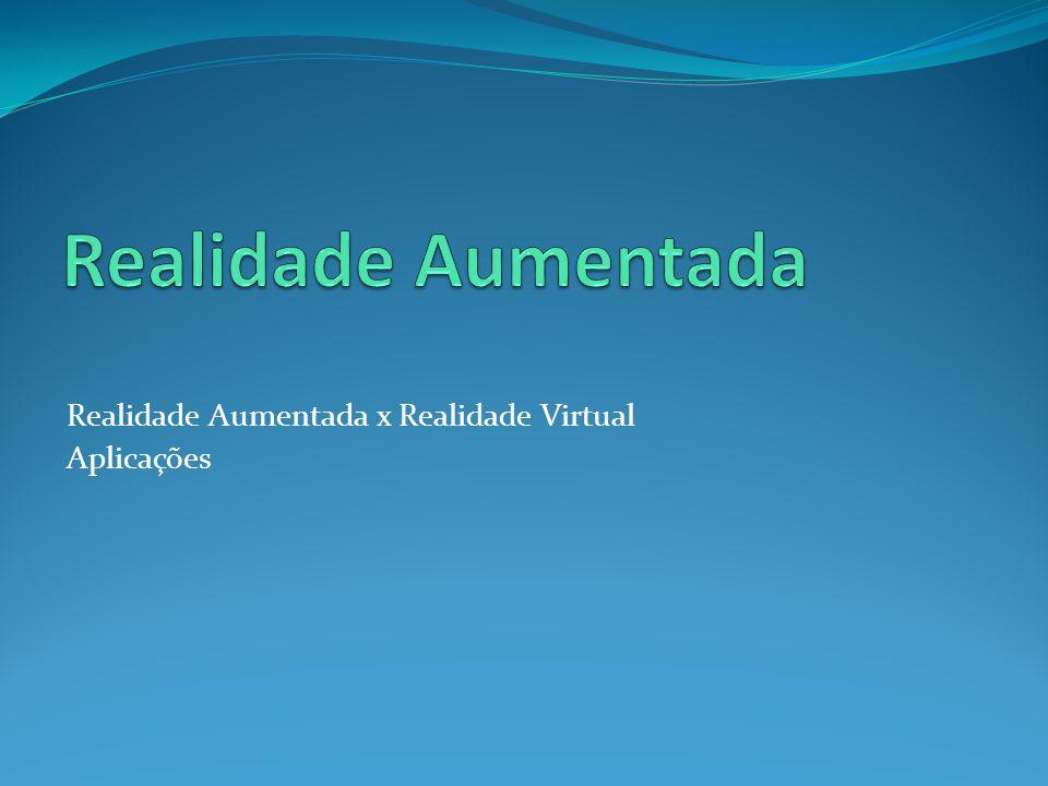Realidade Aumentada x Realidade Virtual Aplicações