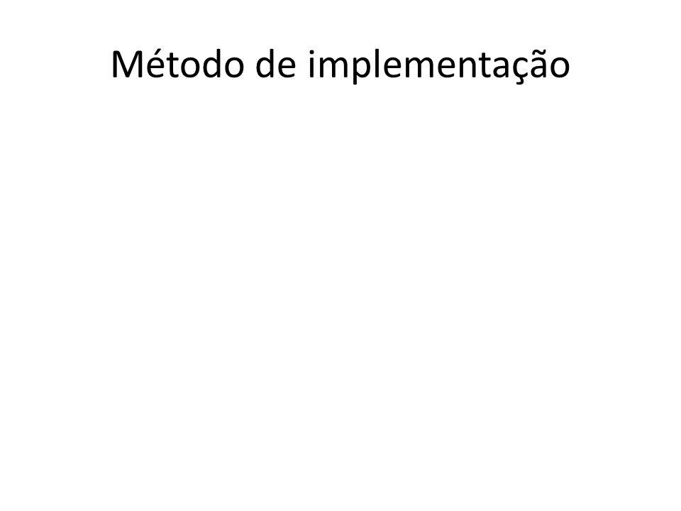 Método de implementação