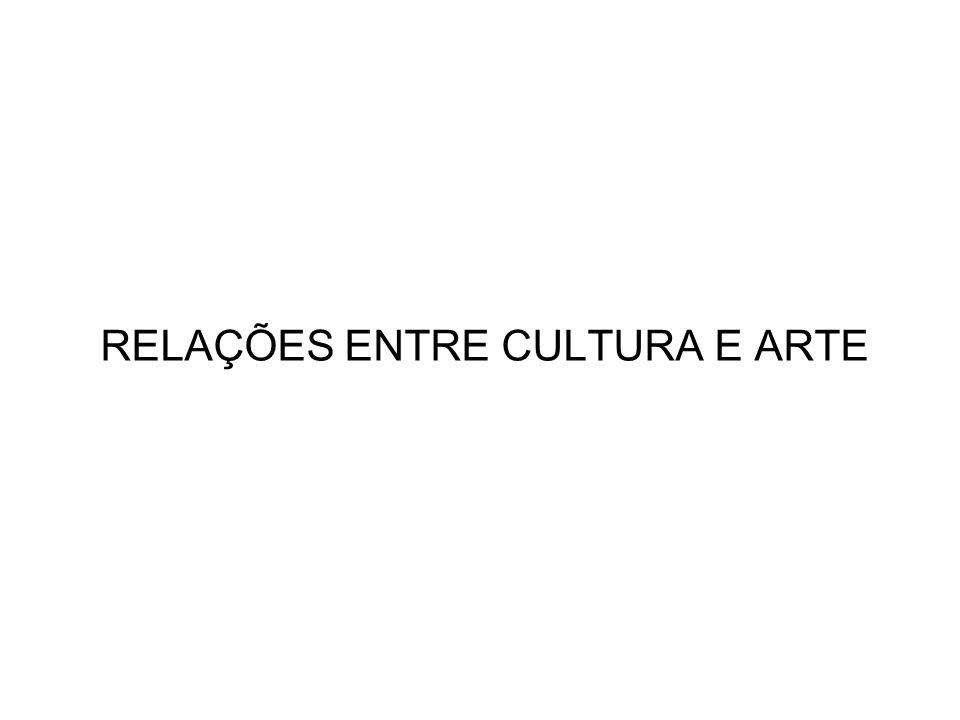 RELAÇÕES ENTRE CULTURA E ARTE