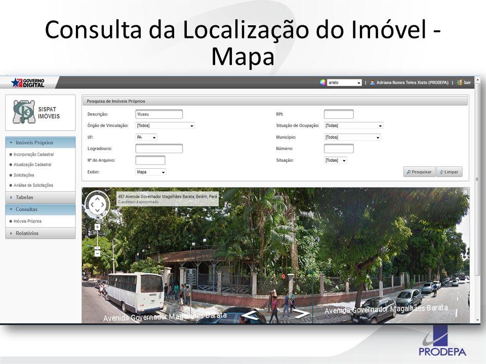 Consulta da Localização do Imóvel - Mapa