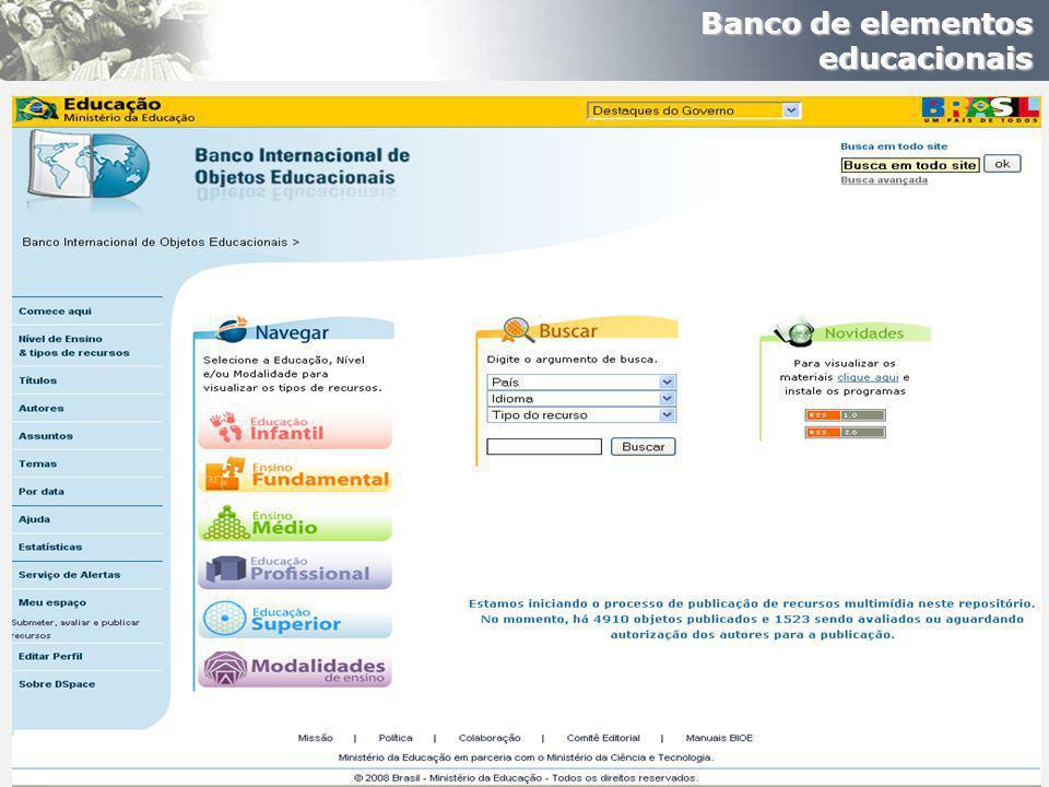 Banco de elementos educacionais