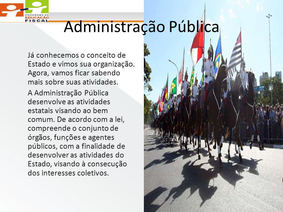 Administração Pública Já conhecemos o conceito de Estado e vimos sua organização.