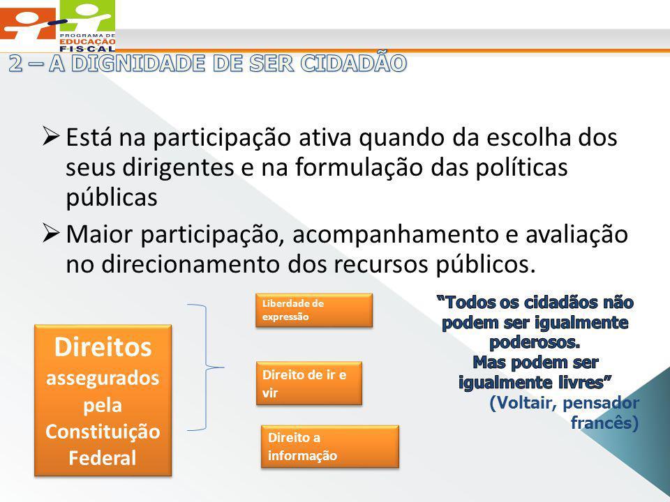 Está na participação ativa quando da escolha dos seus dirigentes e na formulação das políticas públicas Maior participação, acompanhamento e avaliação no direcionamento dos recursos públicos.