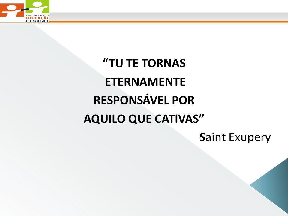 TU TE TORNAS ETERNAMENTE RESPONSÁVEL POR AQUILO QUE CATIVAS Saint Exupery
