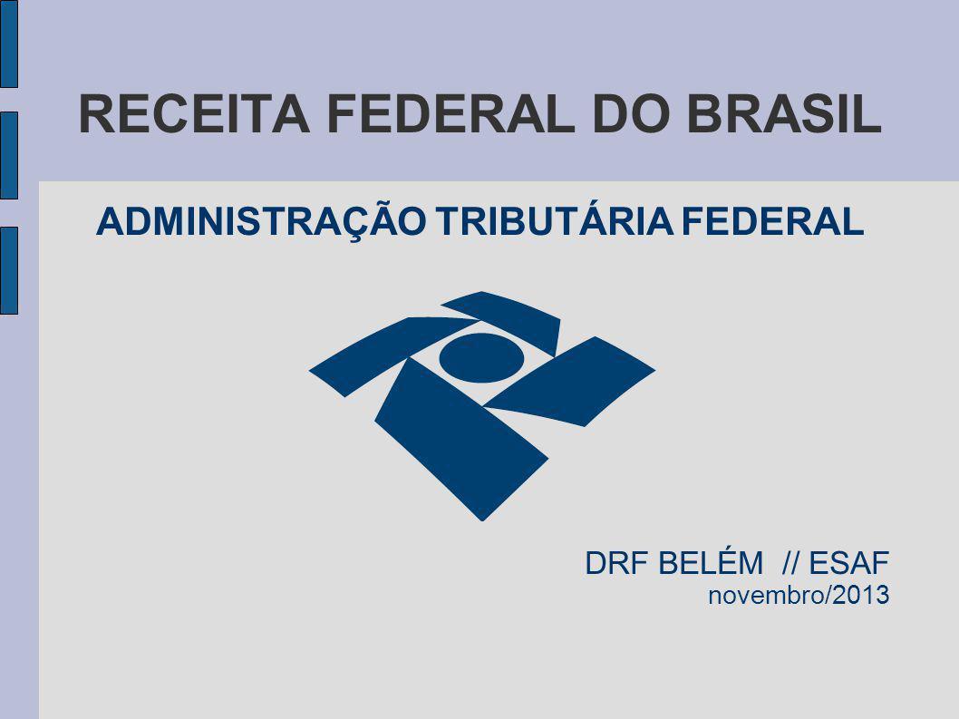RECEITA FEDERAL DO BRASIL ADMINISTRAÇÃO TRIBUTÁRIA FEDERAL DRF BELÉM // ESAF novembro/2013