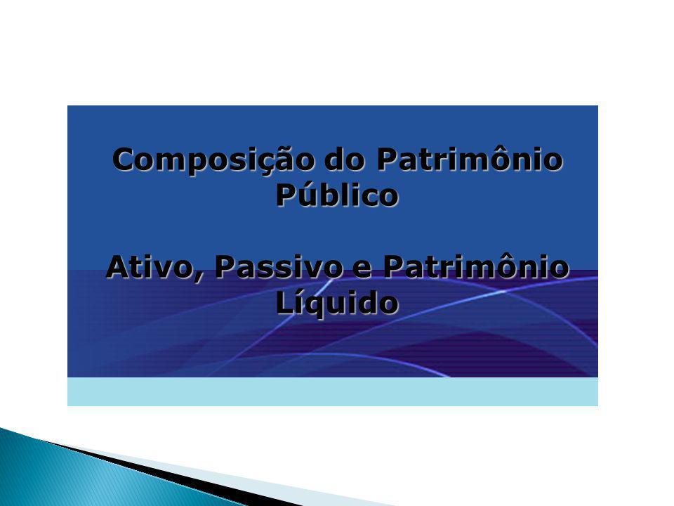 Composição do Patrimônio Público Ativo, Passivo e Patrimônio Líquido