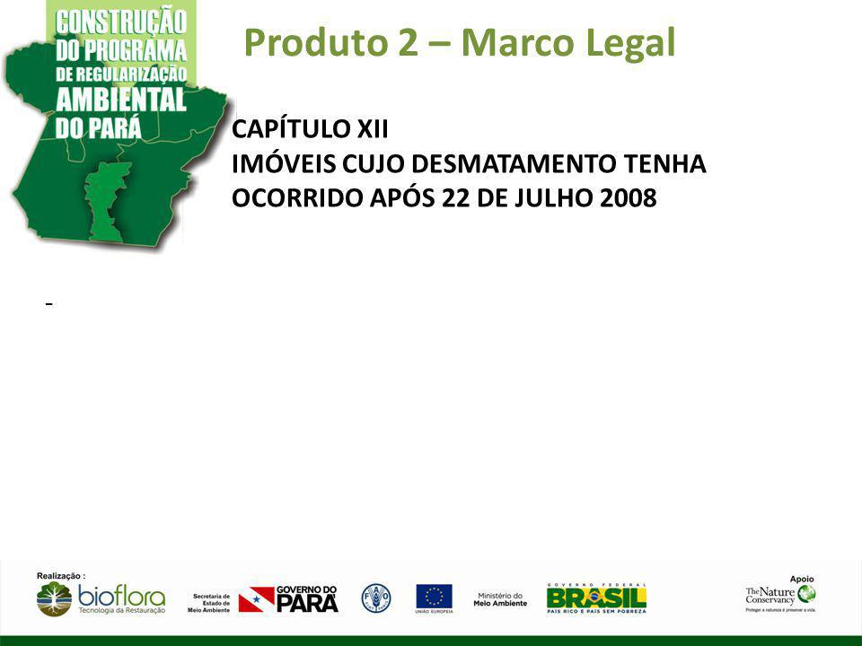 Produto 2 – Marco Legal CAPÍTULO XII IMÓVEIS CUJO DESMATAMENTO TENHA OCORRIDO APÓS 22 DE JULHO 2008 -