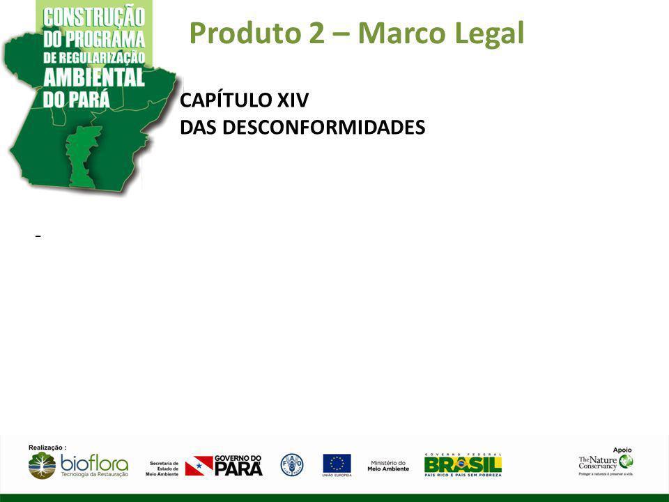 Produto 2 – Marco Legal CAPÍTULO XIV DAS DESCONFORMIDADES -