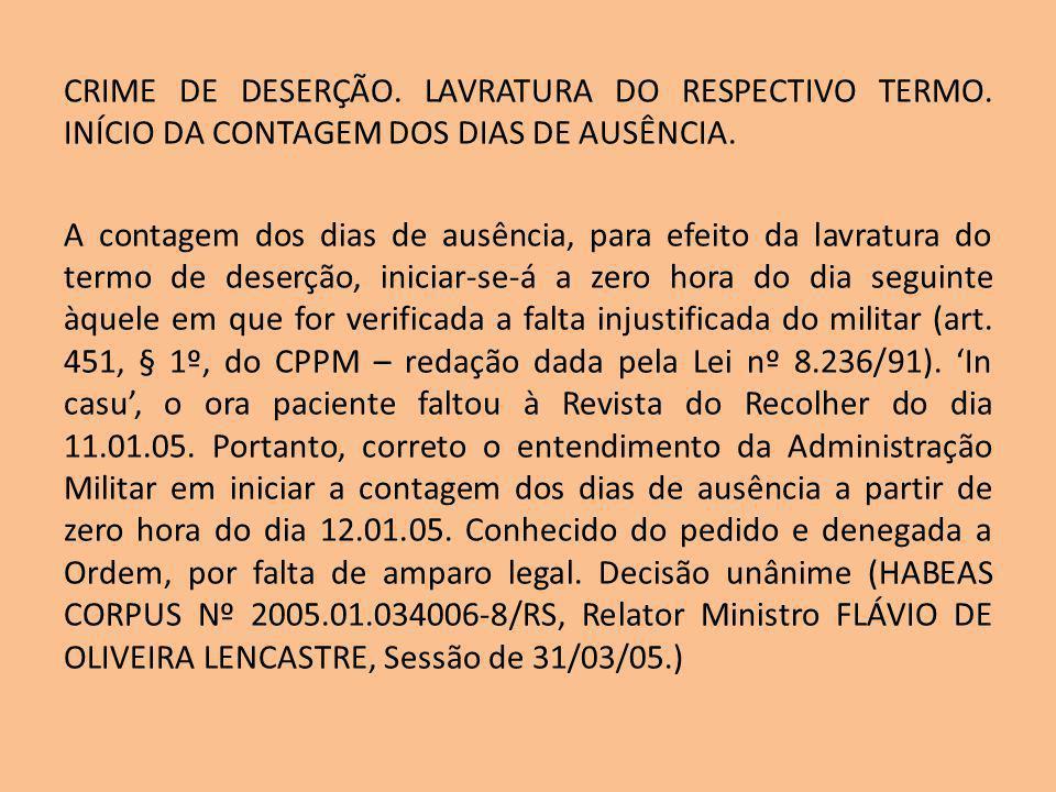 Exemplo: Policial Militar faltou o serviço de policiamento ordinário no estádio do Mangueirão do dia 01.01.13 em que deveria estar presente no local às 20:00h, permanecendo ausente desde então.