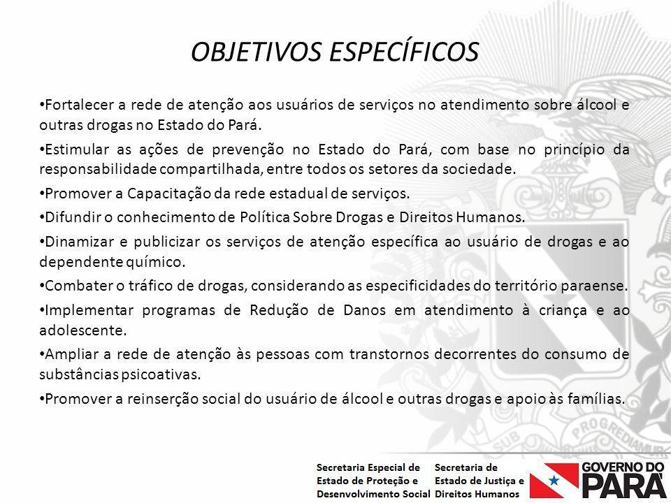Nome da Secretaria Especial.... Nome do Órgão ou Entidade vinculada OBJETIVOS ESPECÍFICOS Fortalecer a rede de atenção aos usuários de serviços no ate