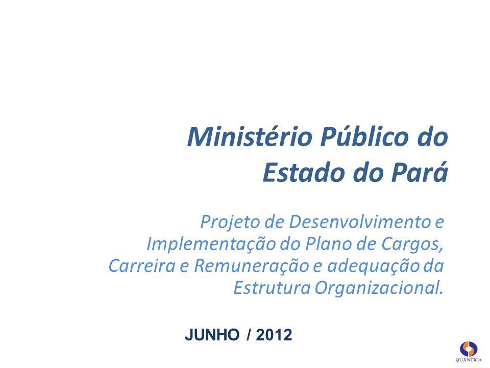 Ministério Público do Estado do Pará Projeto de Desenvolvimento e Implementação do Plano de Cargos, Carreira e Remuneração e adequação da Estrutura Or