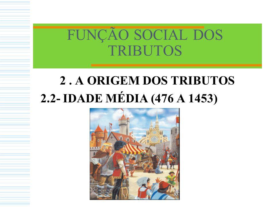 FUNÇÃO SOCIAL DOS TRIBUTOS 2. A ORIGEM DOS TRIBUTOS 2.1 -IDADE ANTIGA