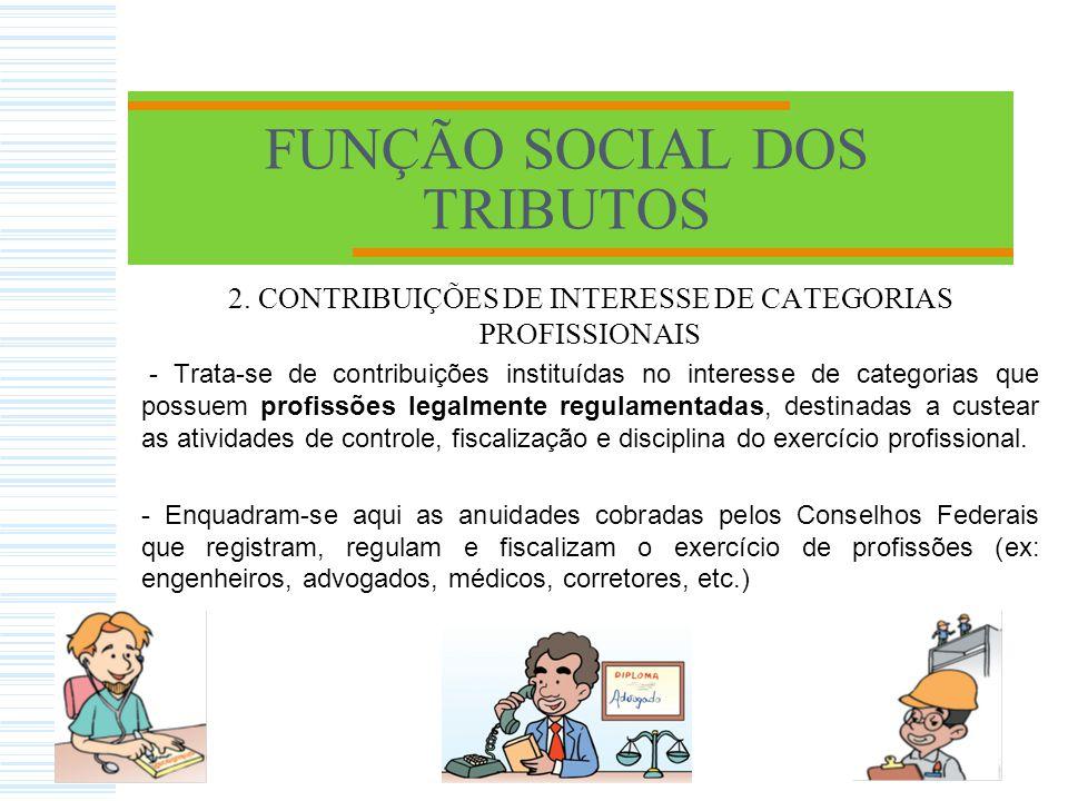 CONTRIBUIÇÕES SOCIAIS PREVIDENCIÁRIA - Contribuição de empregados, empregadores e autônomos para o INSS, calculada sobre a respectiva remuneração FGTS - Fundo de Garantia do Tempo de Serviço PIS- Programa de Integração Social PASEP - Programa de Formação do Patrimônio do Servidor Público COFINS -Contribuição para o Financiamento da Seguridade Social CSLL- Contribuição Social sobre o Lucro Líquido