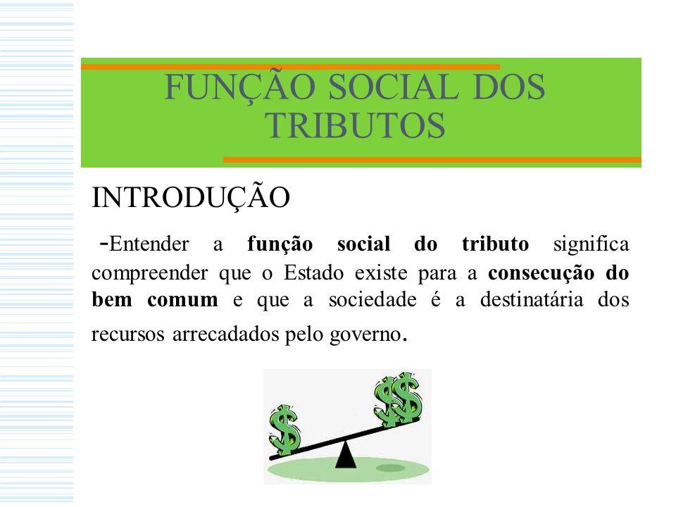 FUNÇÃO SOCIAL DOS TRIBUTOS Obrigado!